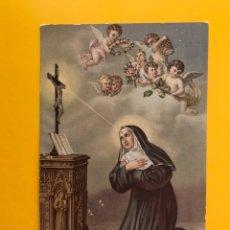 Postales: SANCTA RITA A CASCIA. POSTAL RELIGIOSA ITALIANA. EDITA: NB NO.626 (H.1945?) SIN CIRCULAR... Lote 194709282