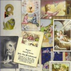 Postales: 80 RECORDATORIOS COMUNION AÑOS 50 ( LOTE 10). Lote 194721245
