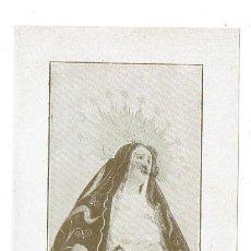 Postales: ESTAMPA DE NUESTRA SEÑORA DE LA SOLEDAD TAL Y COMO SE LE VENERA EN LA IGLESIA DEL SANTO ANGEL DE SEV. Lote 194723906