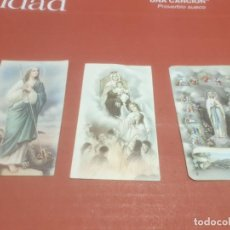 Postales: ESTAMPAS.....TRES ESTAMPAS DE LA VIRGEN SANTÍSIMA..... Lote 194769456