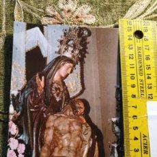 Postales: - TARJETA TAMAÑO POSTAL RELIGIOSA SEMANA SANTA CARTAGENA VIRGEN DE LA PIEDAD MARRAJOS. Lote 194888061