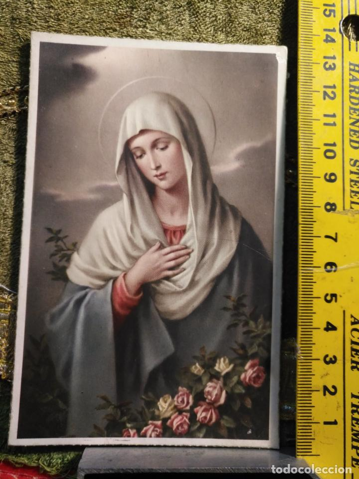ANTIGUA TARJETA POSTAL RELIGIOSA - VIRGEN AÑOS 40S S/IRIS (Postales - Postales Temáticas - Religiosas y Recordatorios)