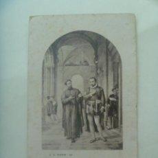 Postales: ESTAMPA ANTIGUA DE SAN IGNACIO ( DE LOYOLA ) Y SAN FRANCISCO JAVIER. Lote 194980127