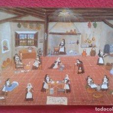 Postales: POSTAL Nº 8 ENTRE PUCHEROS ANDA DIOS MARÍA TERESA ANTOLÍN, IMAGEN DE MONJAS COCINANDO, PLANCHANDO.... Lote 195015363