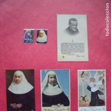 Postales: ESTAMPAS RELIGIOSAS.-RELIQUIA.-LOTE DE 5 ESTAMPAS RELIGIOSAS CON RELIQUIA.. Lote 195037517