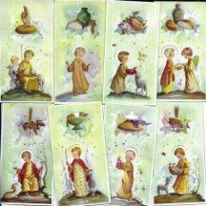Postales: 10 RECORDATORIOS COMUNIÓN BENAGES - 1962 . Lote 195123675