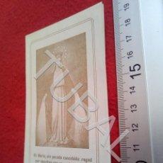 Postales: TUBAL 1923 VISITA VIRGEN MILAGROSA ESTAMPA RECORDATORIO B49. Lote 195164475