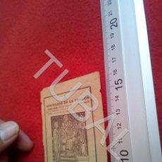 Postales: TUBAL 1938 APOSTOLADO DE LA ORACION ESTAMPA RECORDATORIO B49. Lote 195164661