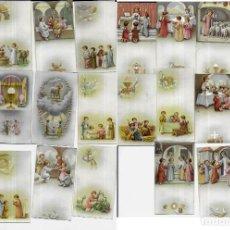 Postales: 22 RECORDATORIOS - ESTAMPAS - AÑOS 60. Lote 195185622