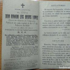 Postales: IN MEMORIAM, SORIA. AÑO 1922. OFICIAL CUERPO TELEGRAFOS.. Lote 195194536