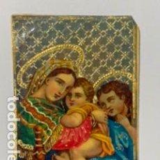 Postales: ESTAMPA RELIGIOSA CON DECORACIONES DORADAS. 8 X 5,50. Lote 195240398