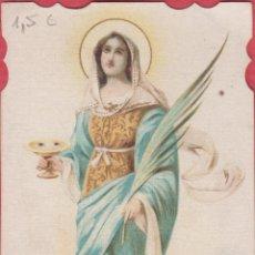 Postales: ESTAMPA RELIGIOSA A COLOR S. LUCIA V. M. EST.3787. Lote 195252621