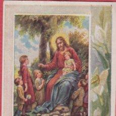 Postales: ESTAMPA RELIGIOSA A COLOR SINITE PARVOLUS VENIRE AD ME EST.3790. Lote 195254478