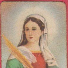 Postales: ESTAMPA RELIGIOSA A COLOR SANTA LUCIA EST.3793. Lote 195256301