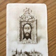 Postales: R8142 ANTIGUA ESTAMPA ESTAMPITA AL SANTO ROSTRO DE CRISTO CON ORACION JAEN 3636 CASA BAÑERES. Lote 195311378