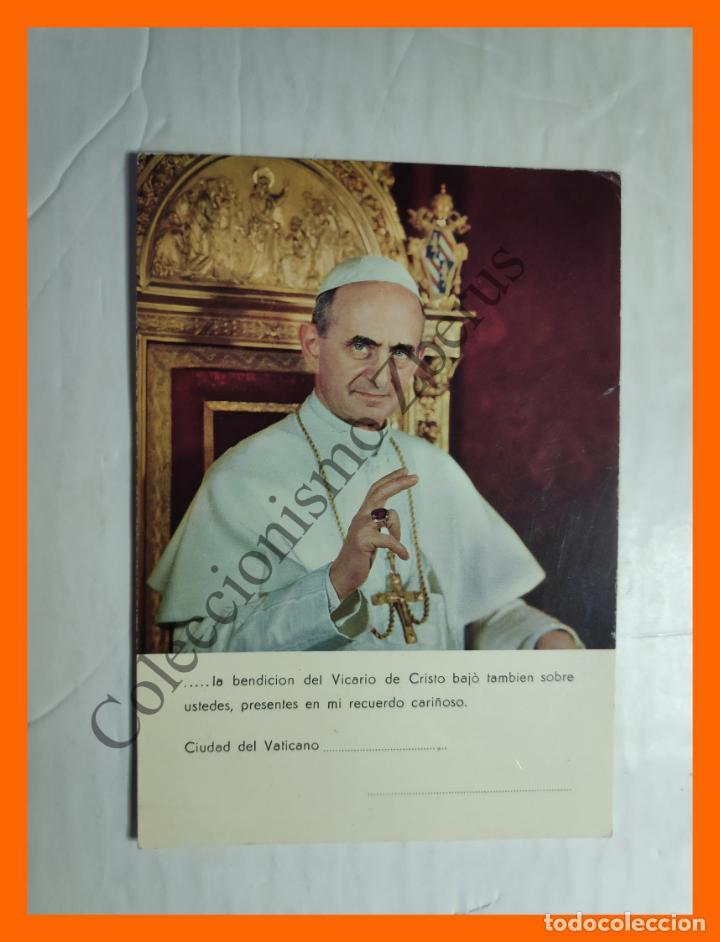 TARJETA POSTAL - PAPA PABLO VI (Postales - Postales Temáticas - Religiosas y Recordatorios)