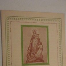 Postales: OBRA EXPIATORIA ARCHICOFRADIA N.SRA DE MONTLIGEON.1952. Lote 195428156