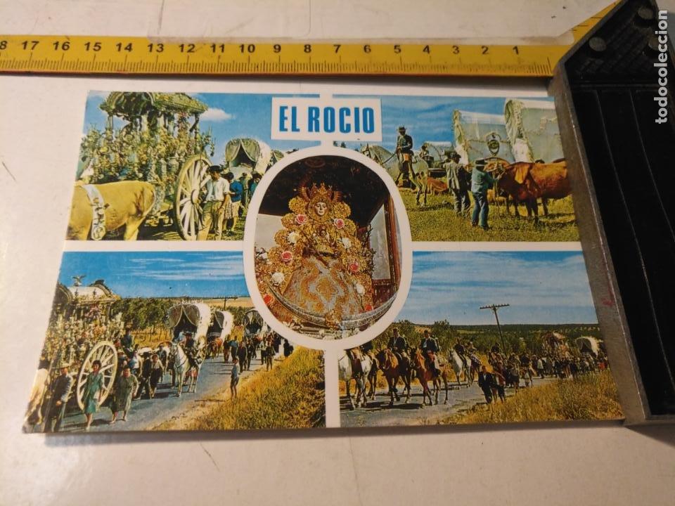 HAGA SU OFERTA POSTA SEMANA SANTA VIRGEN DEL ROCIO ALMONTE HUELVA BEASCOA 1974 (Postales - Postales Temáticas - Religiosas y Recordatorios)