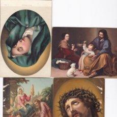 Postales: LOTE DE 4 POSTALES ANTIGUAS RELIGIOSAS EN. Lote 195494085