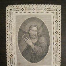 Postales: CRISTO-ESTAMPA ANTIGUA PUNTILLA-VER FOTOS-(V-19.221). Lote 195494313