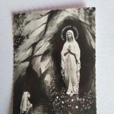 Postales: POSTAL FRANCIA LOURDES LA APARICIÓN. Lote 195497047