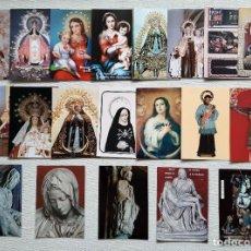 Postales: LOTE 20 POSTALES Y FOTOS RELIGIOSAS DE LA VIRGEN Y ALGUNOS SANTOS. Lote 195507877