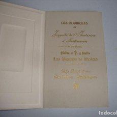 Postales: PIEZA DE MUSEO FELICITACION DE NAVIDADES LOS ALGUACILES JUZGADO Nº 1 INSTANCIA I INSTRUCCION 1910. Lote 195511138