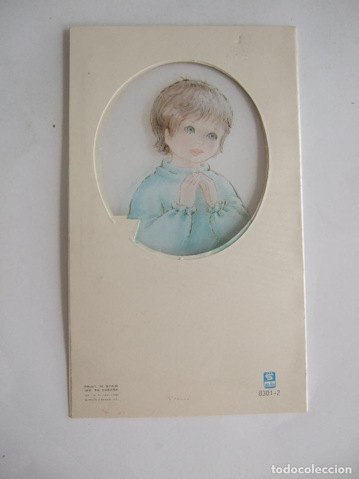 Postales: ESTAMPA RECORDATORIO COMUNION - SEVILLA 1988 - SUBI 8301-2 - ILUSTRADO POR CONTIJOCH - Foto 2 - 195624018