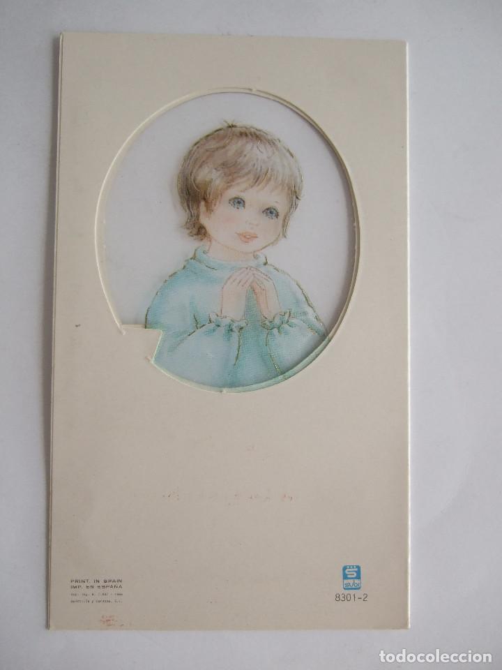 Postales: ESTAMPA RECORDATORIO COMUNION - SEVILLA 1988 - SUBI 8301-2 - ILUSTRADO POR CONTIJOCH - Foto 2 - 195624378