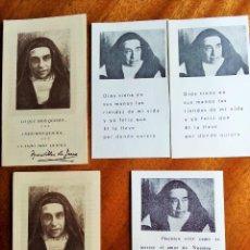 Cartoline: MADRE MARAVILLAS DE JESÚS. LOTE 5 RECORDATORIOS. Lote 195733640