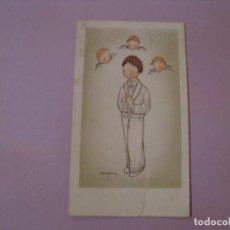 Cartes Postales: RECORDATORIO DE LA PRIMERA COMUNIÓN, MALAGA. IL. ROSER PUIG. 1966. 10,5X6 CM.. Lote 195775446