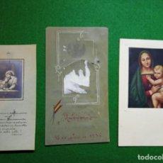 Postales: LOTE 3 RECUERDOS PRIMERA COMUNIÓN AÑOS 1931/38 NOMINATIVAS. Lote 196377156