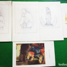 Postales: LOTE 2 DE 5 RECUERDOS PRIMERA COMUNIÓN, AÑOS 50. NOMINATIVOS. Lote 196379953