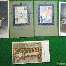 Postales: LOTE 5 DE 5 RECORDATORIOS PRIMERA COMUNIÓN AÑOS 50. NOMINATIVOS. Lote 196380983