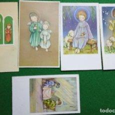 Postales: LOTE 6 DE 5 RECUERDOS PRIMERA COMUNIÓN AÑOS 50. NOMINATIVOS. Lote 196381277
