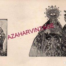 Postales: SEMANA SANTA SEVILLA, PRINCIPIOS SIGLO XX, RARISIMO RECUERDO VIRGEN DE LA AMARGURA,20X11 CMS. Lote 196650332