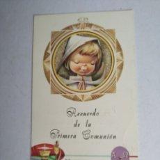 Postales: ESTAMPA RECUERDO RECORDATORIO COMUNION VERNET 1966 VALENCIA. Lote 197320056