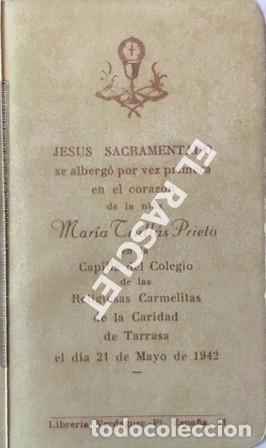Postales: ANTIGÚA TARJETA RECORDATORIO PRIMERA COMUNIÓN - Foto 2 - 198821508