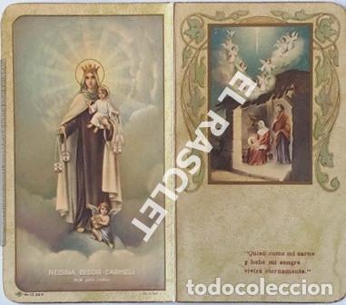 Postales: ANTIGÚA TARJETA RECORDATORIO PRIMERA COMUNIÓN - Foto 4 - 198821508
