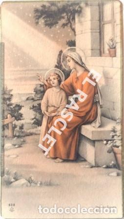 ANTIGÚO RECORDATORIODE LA PRIMERA COMUNIÓN AÑO 1943 (Postales - Postales Temáticas - Religiosas y Recordatorios)