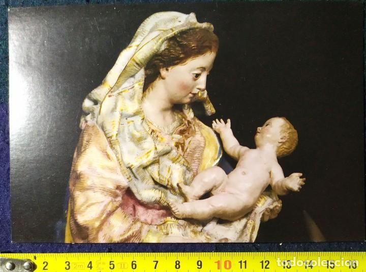POSTAL ESCULTURAS SALZILLO 04 VIRGEN NIÑO JESUS (Postales - Postales Temáticas - Religiosas y Recordatorios)