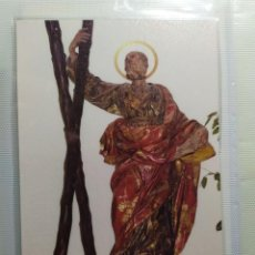 Postales: POSTAL SAN ANDRES APOSTOL ORACION POSTERIOR SIGNIFICADO NOMBRE ANDRES. Lote 198881763