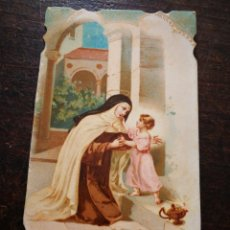 Postales: ESTAMPA RELIGIOSA SANTA TERESA DE JESÚS, 12X7CM.. Lote 199204385