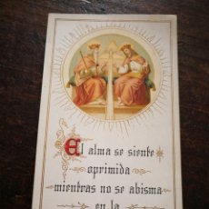 Postales: PRECIOSA ESTAMPA RELIGIOSA S. XIX, 13X7CM.. Lote 199204555