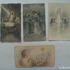 Postales: REPUBLICA: LOTE 4 ESTAMPAS DE PRIMERA COMUNION. MADRID, MONTILLA, SEVILLA Y CONSTANTINA, 1932-1938. Lote 199321957