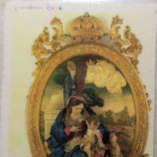 Postales: POSTALES RELIGIOSA PINTADO MARCO DORADO IDEAL DECORACION . Lote 199322951