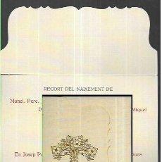 Cartoline: TRÍPTIC NAIXEMENT ANY 1915 - BARCELONA. Lote 199731718