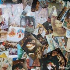 Postales: LOTE MAS DE CIEN TARGETAS POSTALES RELIGIOSAS. Lote 199751728