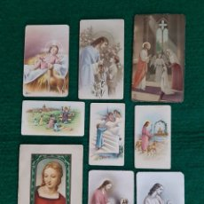 Postales: LOTE DE 9 ANTIGUAS ESTAMPAS DE PRIMERA COMUNIÓN. Lote 200383985