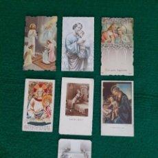 Postales: LOTE 7 ANTIGUAS ESTAMPAS DE PRIMERA COMUNIÓN. Lote 200384650